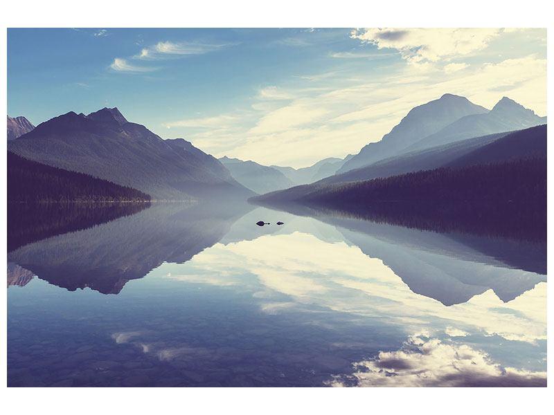Hartschaumbild Bergspiegelung