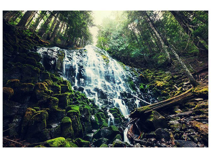 Hartschaumbild Feng Shui & Wasserfall