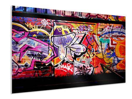 Hartschaumbild Graffiti Kunst