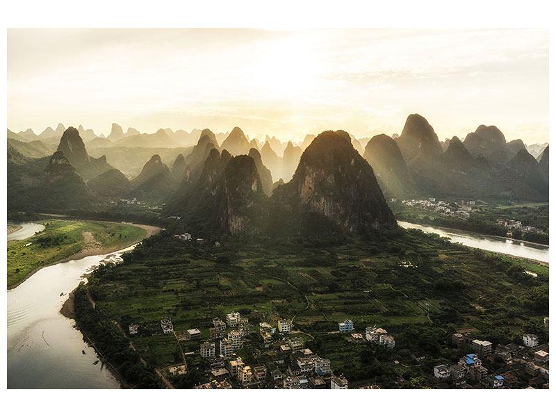 Hartschaumbild Die Berge von Xingping