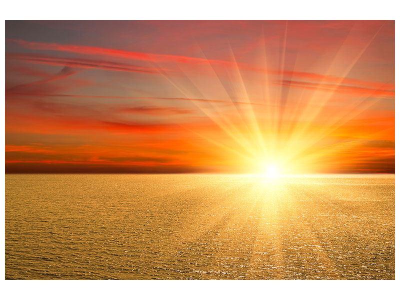 Hartschaumbild Der Sonnenuntergang
