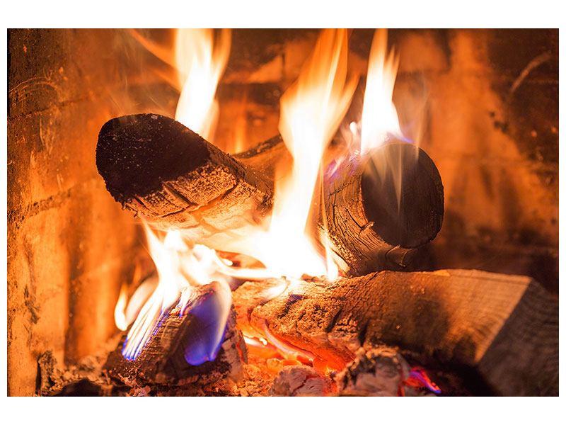 Hartschaumbild Kaminfeuer