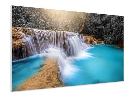 Hartschaumbild Glücklicher Wasserfall