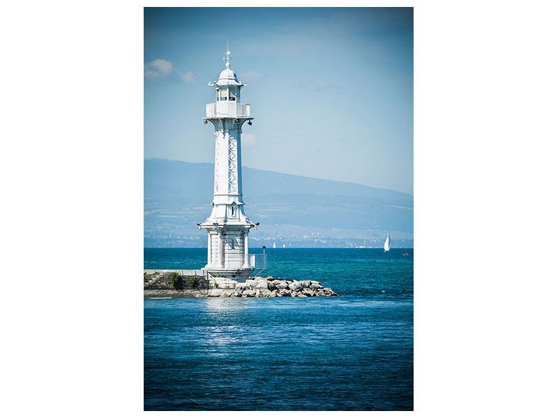 Hartschaumbild Genfer Leuchtturm