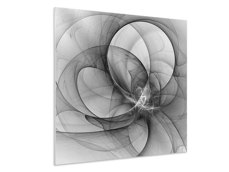 Hartschaumbild Abstrakte Kreisende Kreise