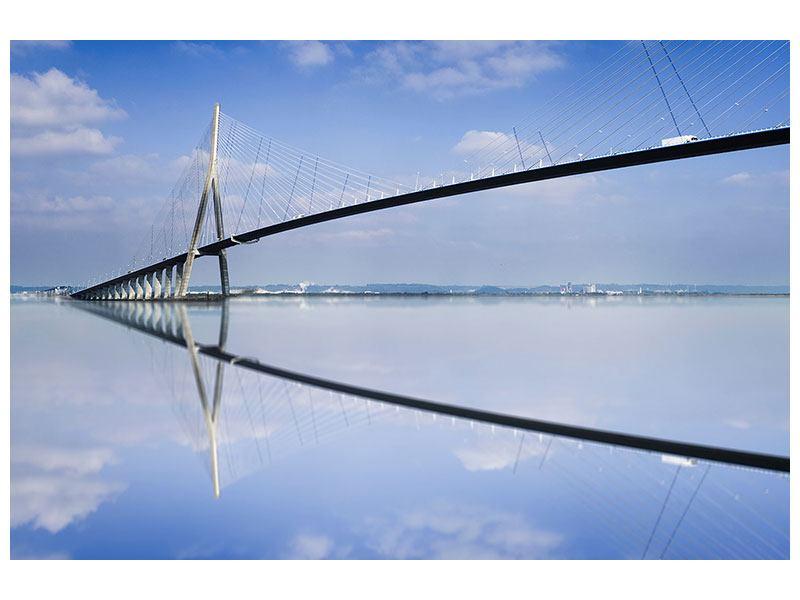 Hartschaumbild Die Pont de Normandie