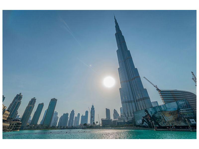 Hartschaumbild Wolkenkratzer-Architektur Dubai