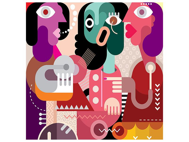 Hartschaumbild Moderne Kunst Frauen