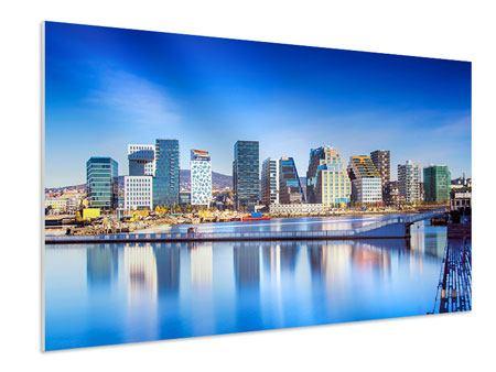Hartschaumbild Skyline Oslo