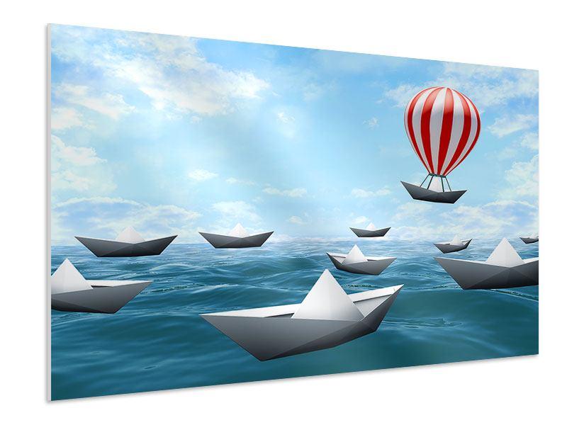 Hartschaumbild Schiffchen