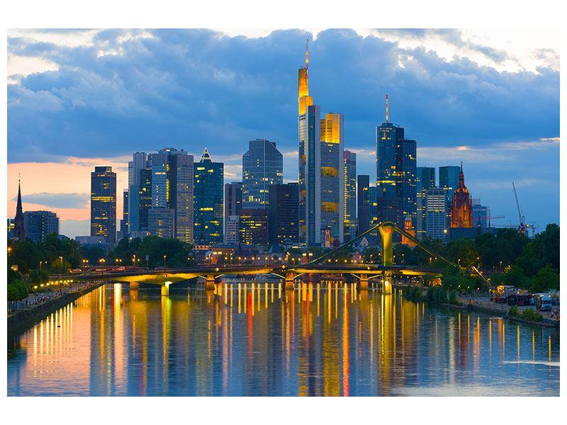 Hartschaumbild Skyline Frankfurt am Main