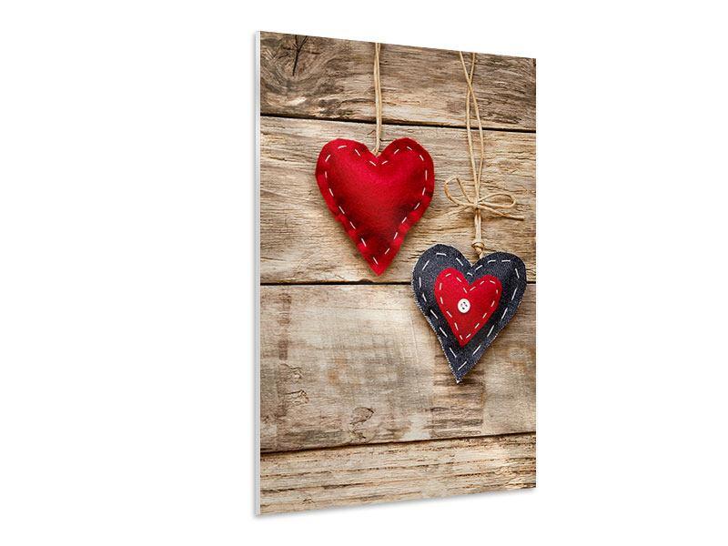 Hartschaumbild Herzromantik