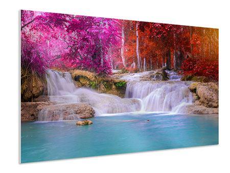 Hartschaumbild Paradiesischer Wasserfall