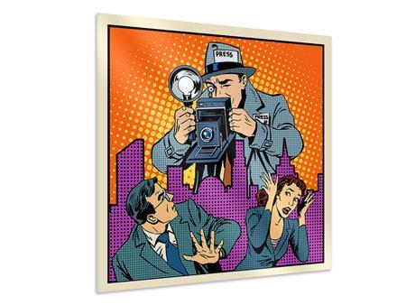 Hartschaumbild Pop Art Paparazzi