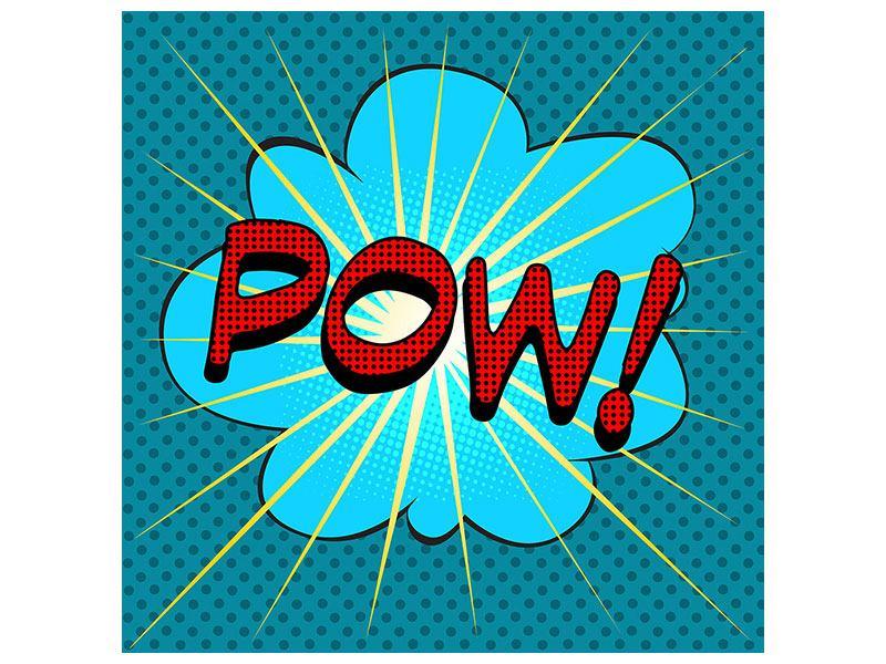 Hartschaumbild Pop Art Pow