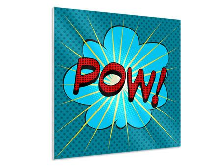 Hartschaumbild Pop Art Pow