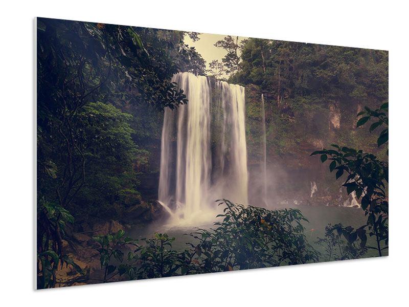Hartschaumbild Wasserfall in Mexiko
