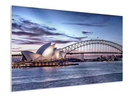 Hartschaumbild Skyline Sydney Opera House