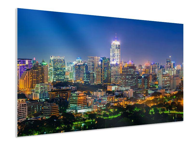 Hartschaumbild Skyline One Night in Bangkok