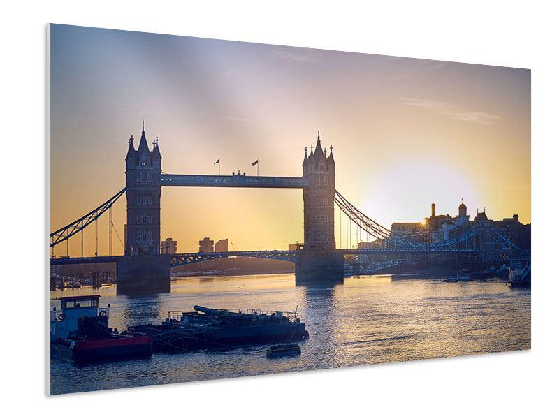 Hartschaumbild Tower Bridge bei Sonnenuntergang