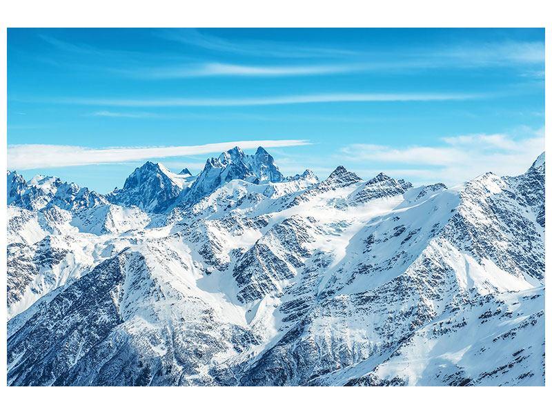 Hartschaumbild Alpenpanorama