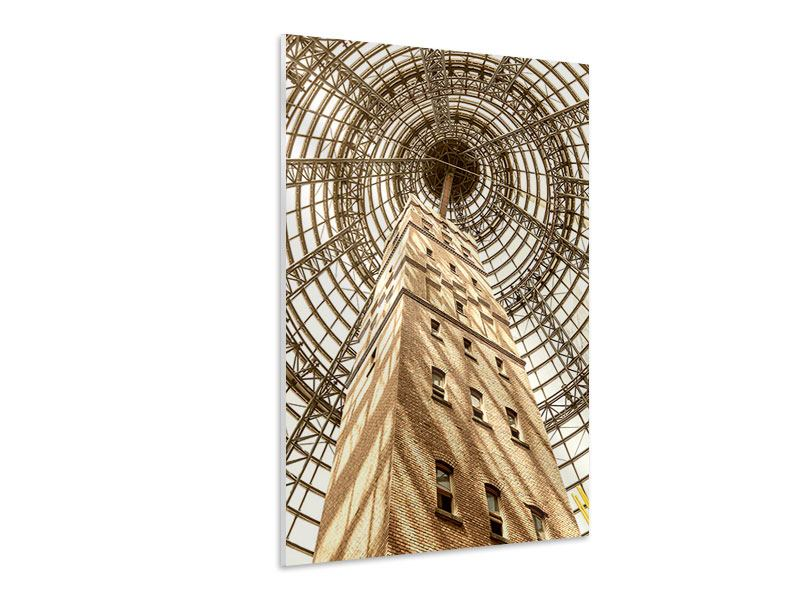 Hartschaumbild Wolkenkratzer Close Up