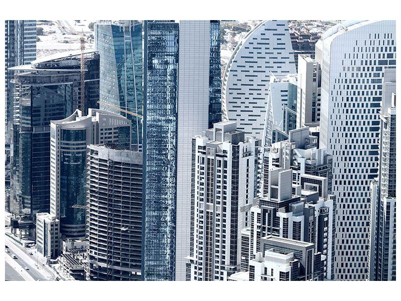 Hartschaumbild Die Wolkenkratzer von Dubai