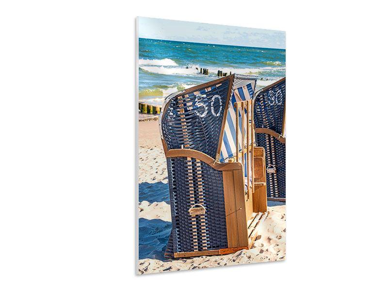 Hartschaumbild Strandkorb