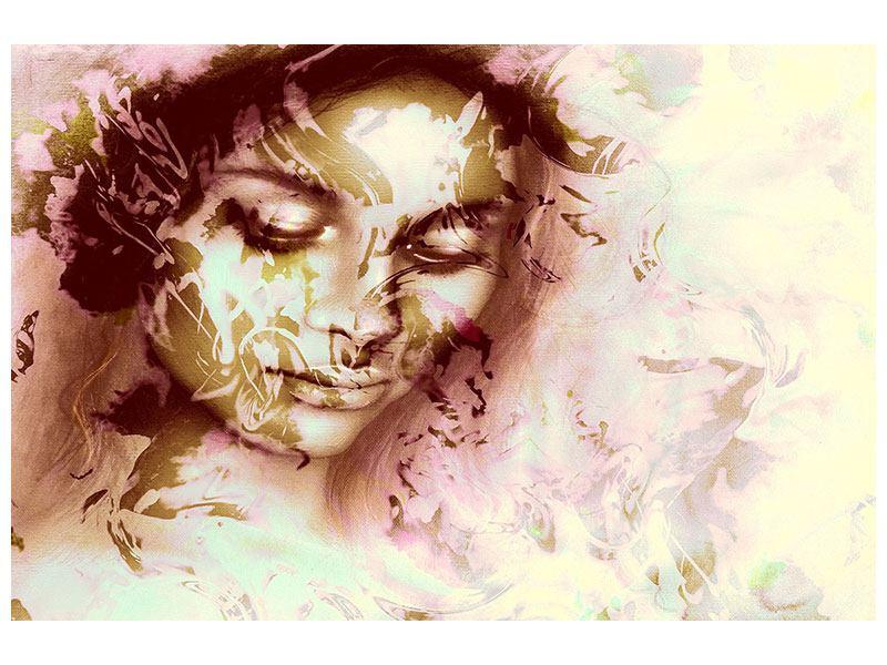 Hartschaumbild Romantisches Portrait einer Schönheit