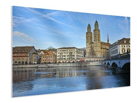 Hartschaumbild Die Altstadt von Zürich