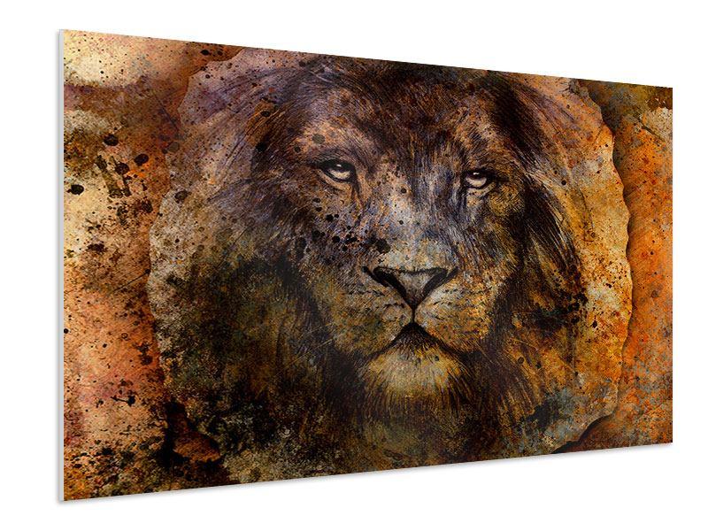Hartschaumbild Portrait eines Löwen