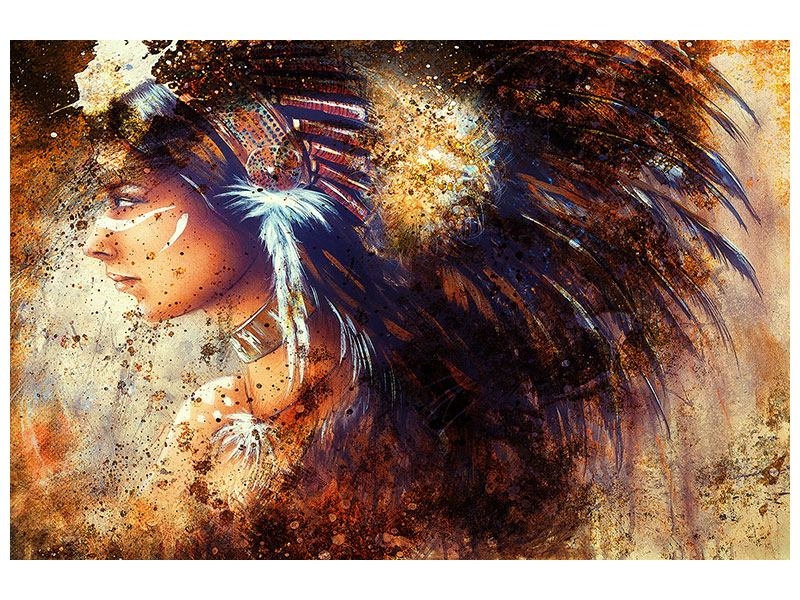 Hartschaumbild Indianer