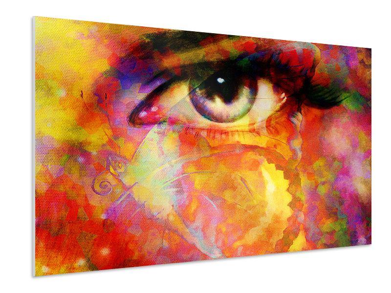 Hartschaumbild Das Auge