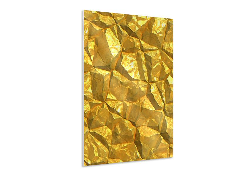 Hartschaumbild Gold