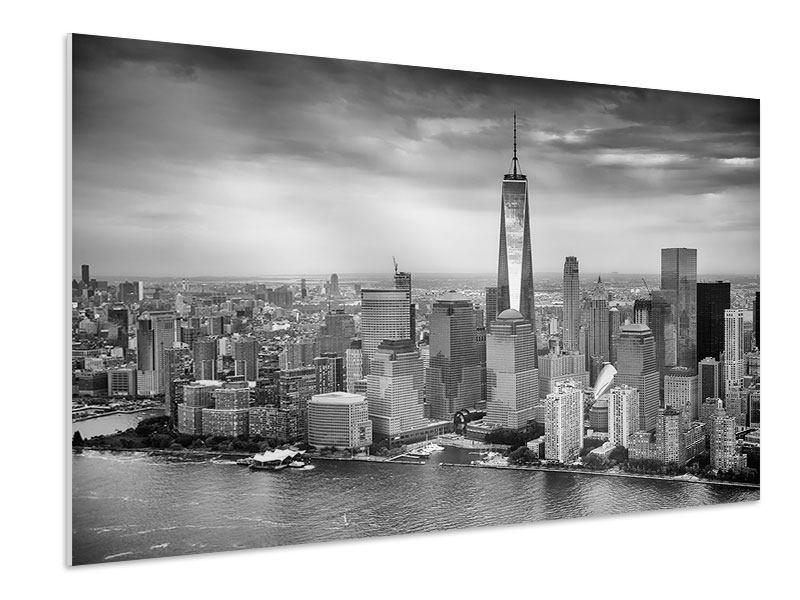 Hartschaumbild Skyline Schwarzweissfotografie New York