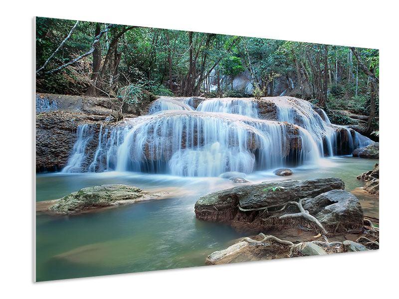 Hartschaumbild Ein Wasserfall
