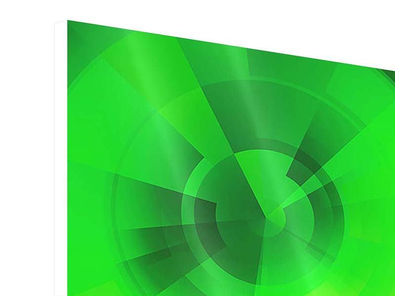 Hartschaumbild Perspektiven in Grün