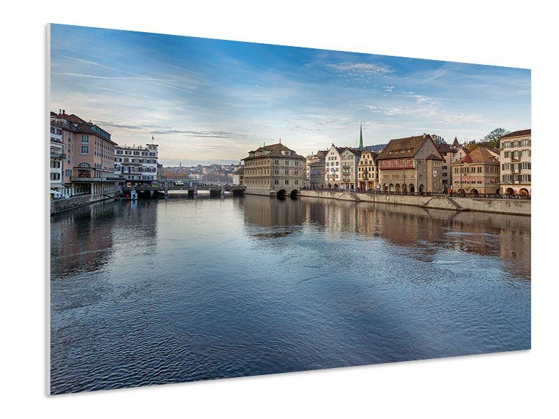 Hartschaumbild Kosmopolitisches Zürich