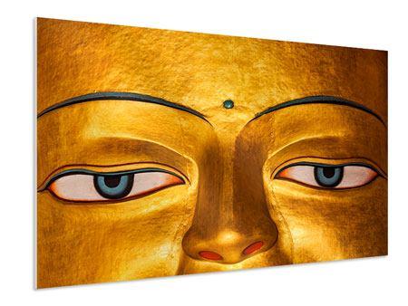 Hartschaumbild Die Augen eines Buddhas