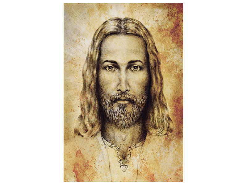 Hartschaumbild Jesus Gemälde
