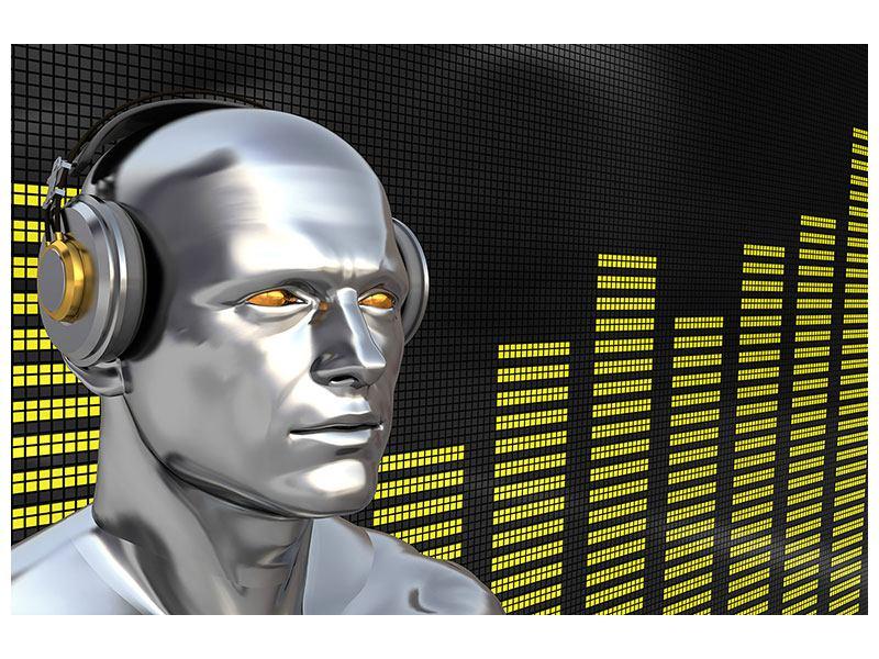Hartschaumbild Futuristischer DJ