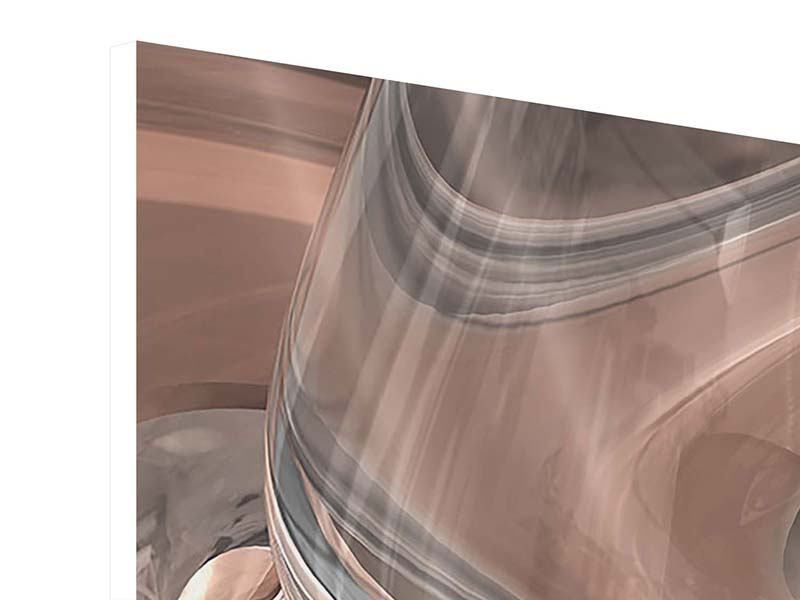 Hartschaumbild Abstraktes Glasfliessen