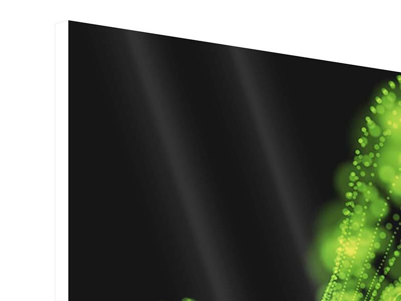 Hartschaumbild Grünes Lichterspiel