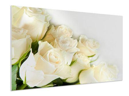 Hartschaumbild Weisse Rosen