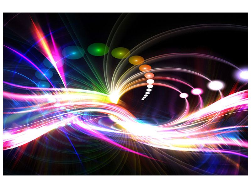 Hartschaumbild Abstrakte Lichtreflexe