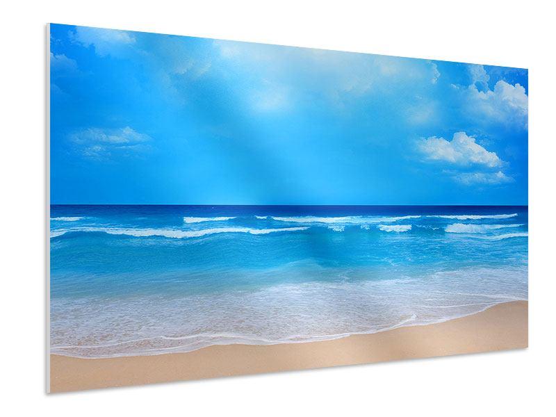 Hartschaumbild Sanfte Strandwellen