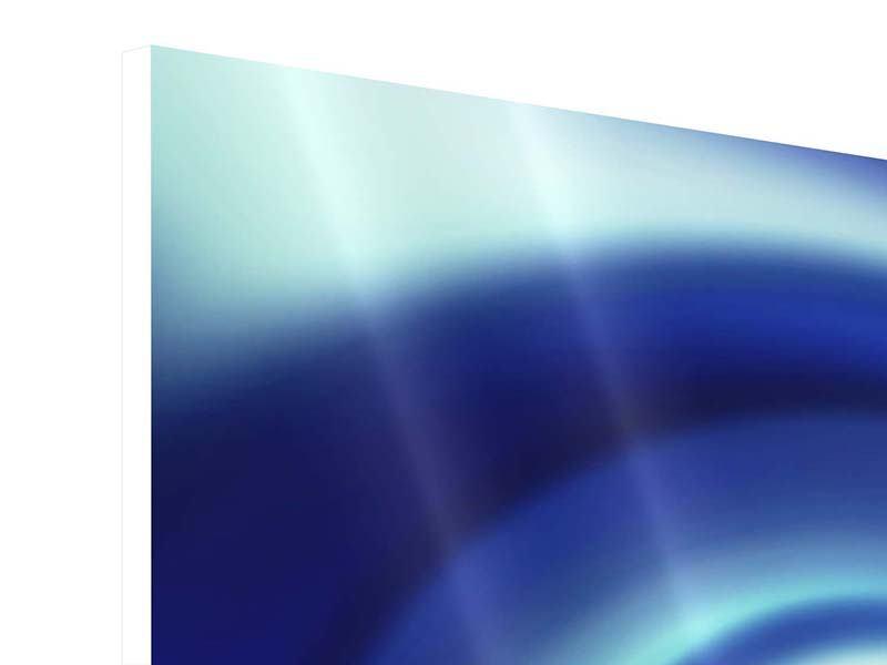 Hartschaumbild Abstrakte Blaue Wirbel