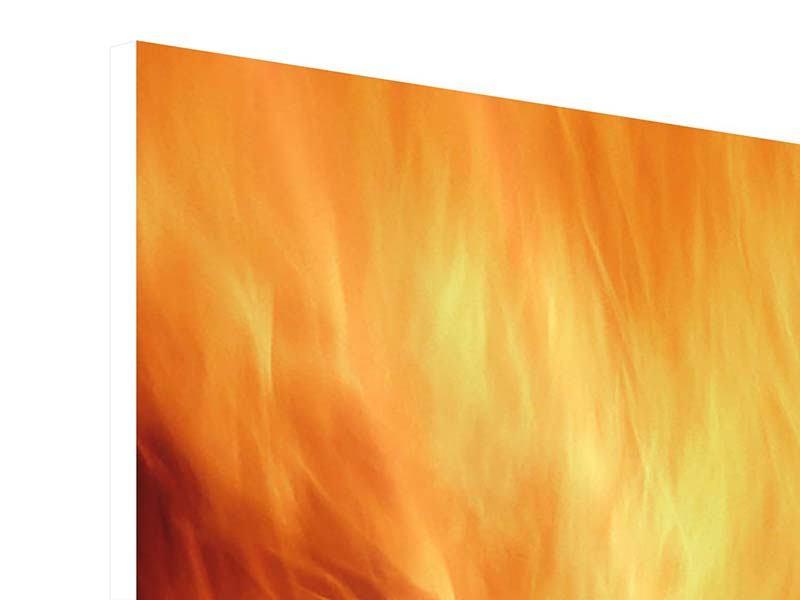Hartschaumbild Flammen