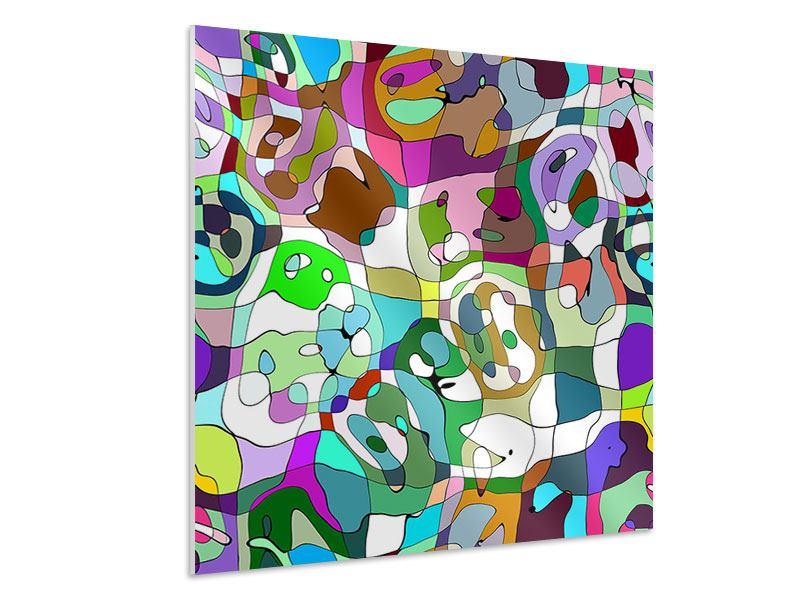 Hartschaumbild Kubistisches Gemälde
