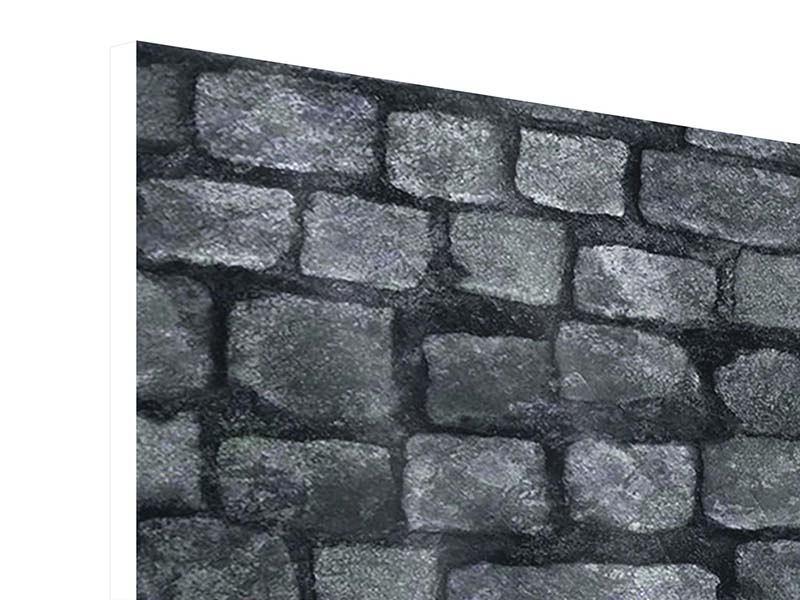 Hartschaumbild Graue Steinmauer